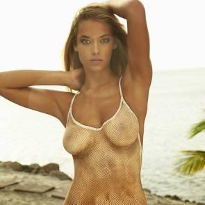 Hannah Ferguson naked body paint