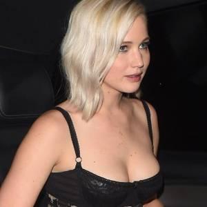 Jennifer Lawrence Sexy Flower Dress & Slight Upskirt