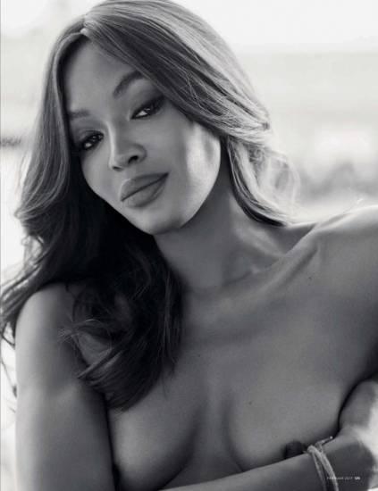 Naomi Campbell boobs and nipples