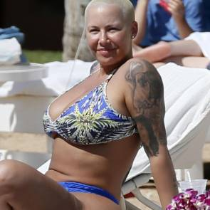 Amber Rose boobs in bikini