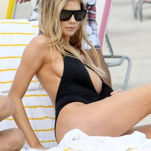 Charlotte McKinney Nipple Slip From Bikini