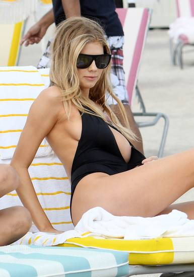 Charlotte McKinney hot boobs slip