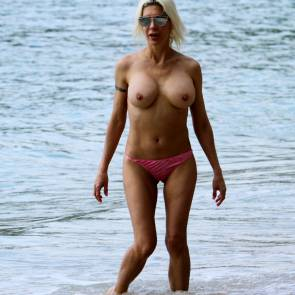 frenchy morgan nude on the beach scandal planet