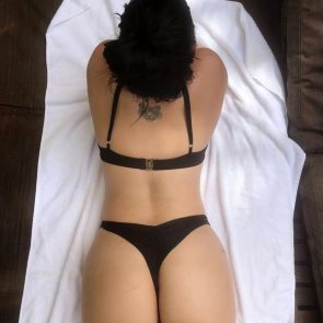 Ariel Winter in black lingerie