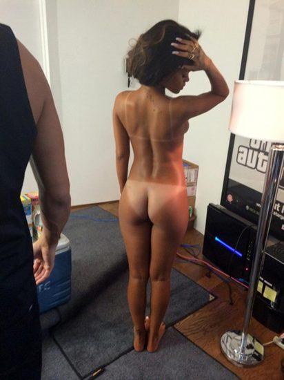 Rihanna ass and naked back