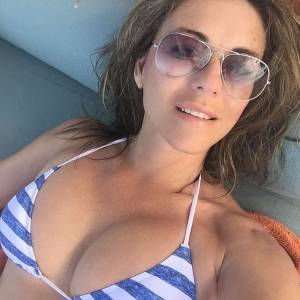 Elizabeth Hurley Bikini And Topless On Beach