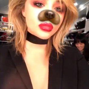 Chloe Grace Moretz hot snapchat selfie