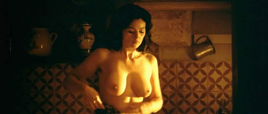 Monica Bellucci topless in the shower