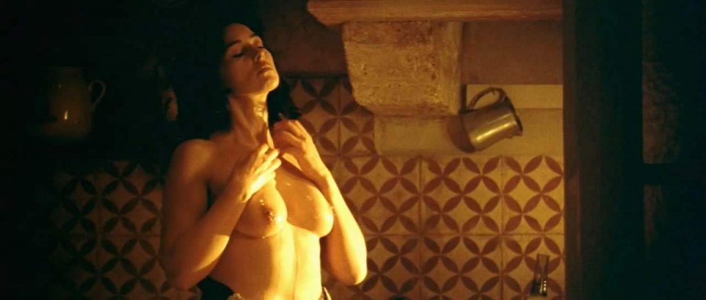 Monica Bellucci showering
