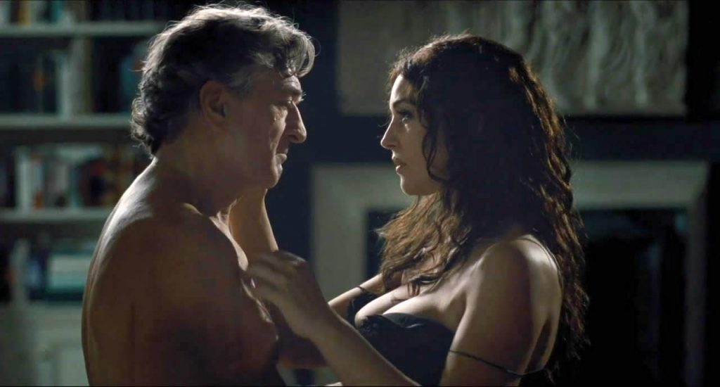 Monica Bellucci cleavage in sex scene