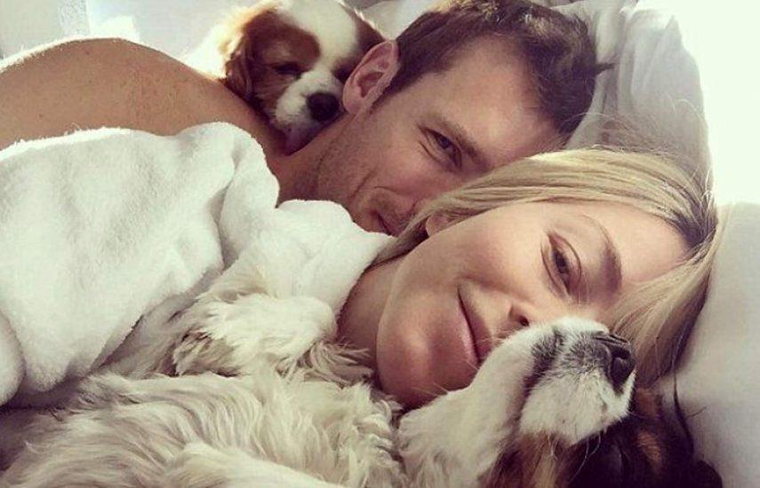Julianne Houghleaked selfie in bed