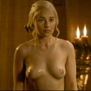 Emilia Clarke Nude Boobs In Game of Thrones Series