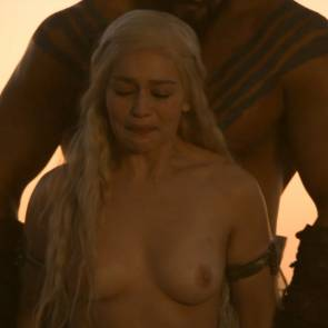 Emilia Clarke Nude Boobs And Nipples In Game of Thrones Series