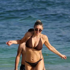 Fergie brown bikini
