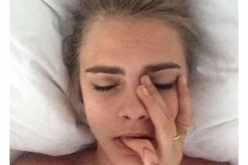 Cara Delevingne hot in bed