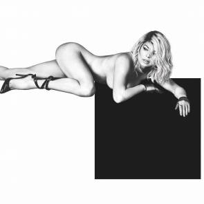 Fergie naked and covered topless