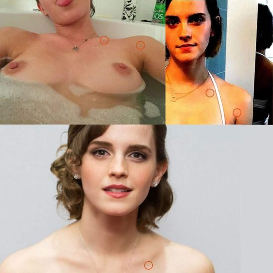 Emma Watson naked boobs in bathtub