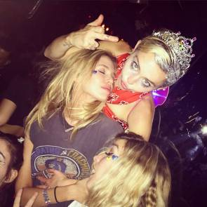 Miley Cyrus partying