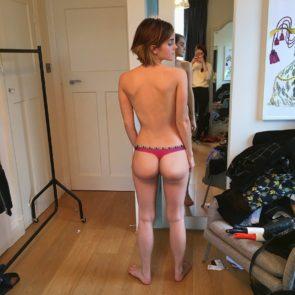 Emma Watson topless in panties