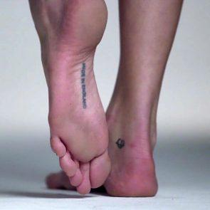 Cara Delevingne feet tattoos