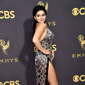 Ariel Winter posing for paparazzi
