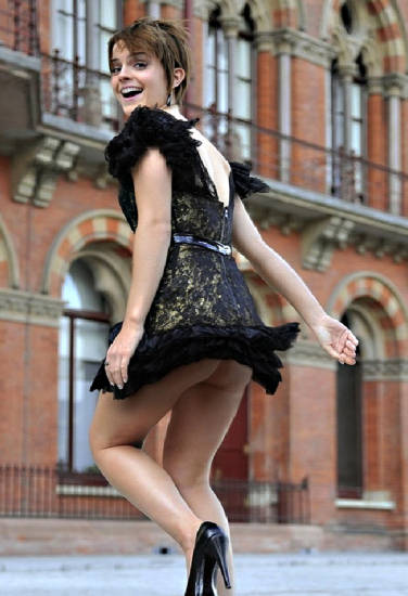 Emma Watson upskirt