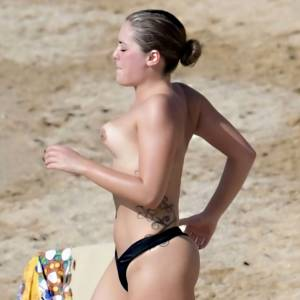 Olympia Valance Topless Flashes Boobs In Greece
