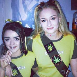 young with Sophie Turner