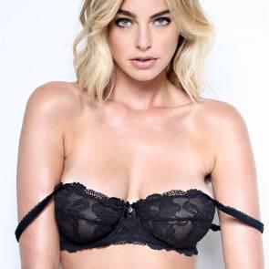 Elizabeth Turner sexy black bra