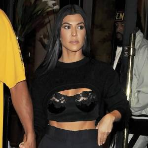 Kourtney Kardashian Flashing Nipples With Her Boyfriend Younes Bendjima