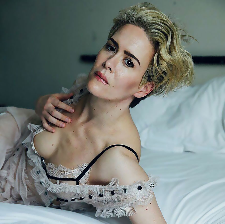 Sarah Paulson Nude Flashes Her Lesbian Tits - Scandal Planet-8281