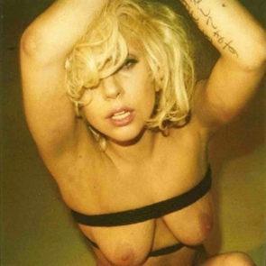 Lady Gaga nude saggy boobs