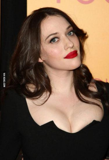 Kat Dennings hot in black dress