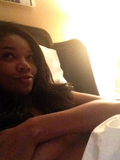 Gabrielle Union nude in bed