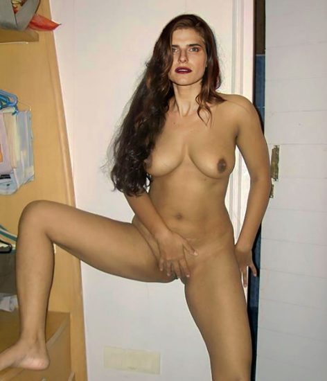 Lake Bell touching her pussy