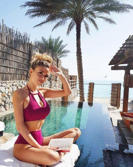 Diletta Leotta pink bikini
