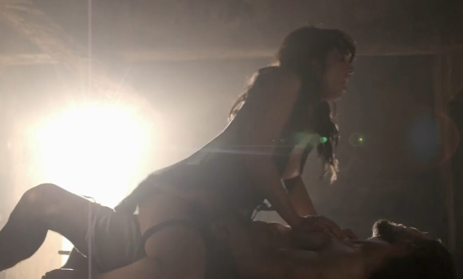 Erin Cummings Rides Guy In Sex Scene From Spartacus Blood And Sand Series