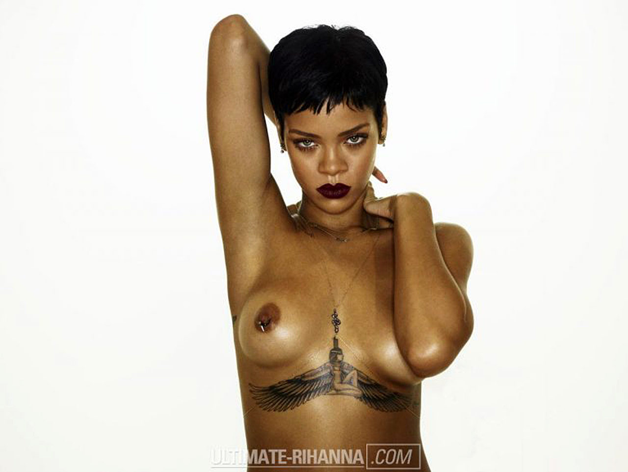 from Ashton rihanna nude with big boobs