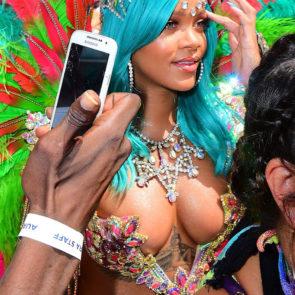 Rihanna hot cleavage and tits