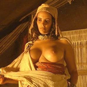 Amina Annabi Big Nude Boobs In The Sheltering Sky Movie