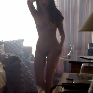 Nadine Velazquez Nude Boobs And Bush In Flight Movie