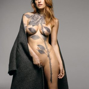 Lake Bell body paint as naked