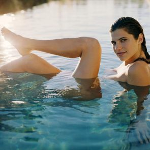 Lake Bell nude in water