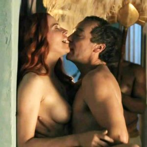 Lucy Lawless Nude Sex Scene In Front Of Slaves In 'Spartacus Blood and Sand' S01E01