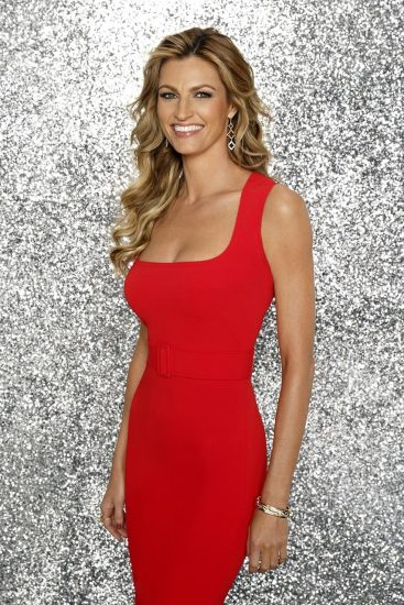 Erin Andrews hot in red dress