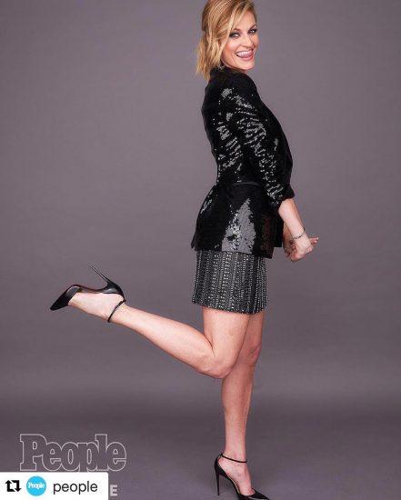 Erin Andrews black dress