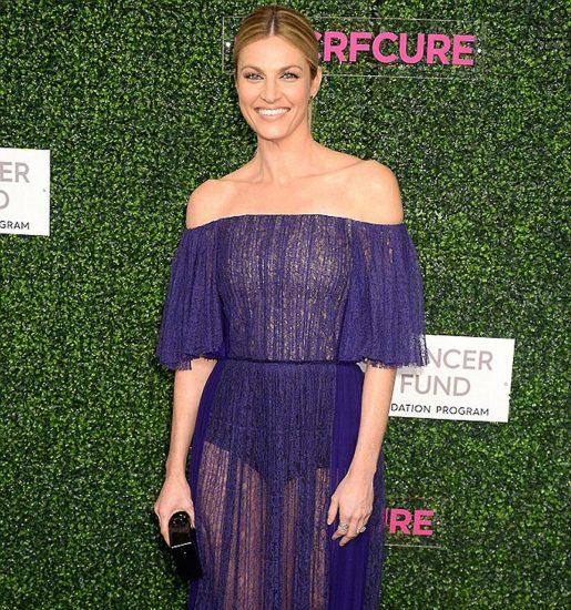 Erin Andrews hot in purple dress