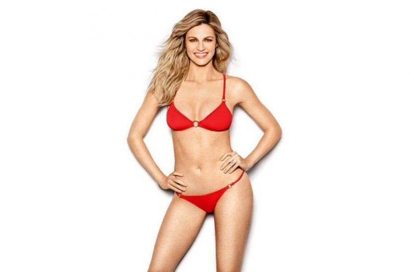 Erin Andrews red bikini