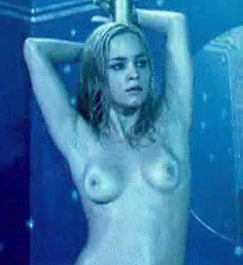 emo crying nude woman