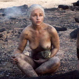 Emilia Clarke Nude Tits Scene From 'Game of Thrones' Series